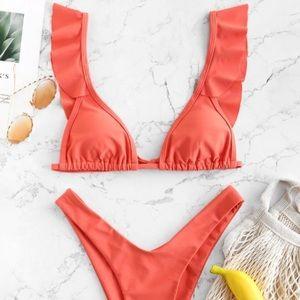 🆕 Zaful High Waist Ruffle Bikini Set